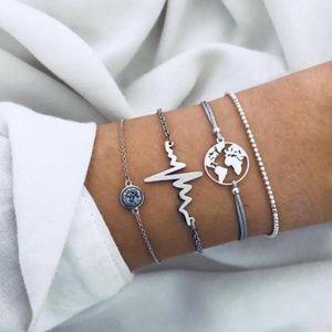 NEW 4pc Bracelet Set